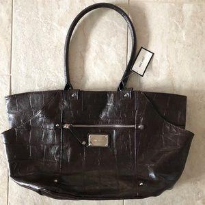 Nine West Large Brown Piermont Bag Purse